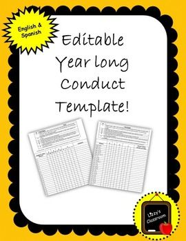 This is an excellent conduct sheet that stays in the students folder for the whole year! Yes you heard right, you only have to print once, front and back, and is good for the whole school year! Great system for parents and students to monitor their weekly behavior in the classroom.