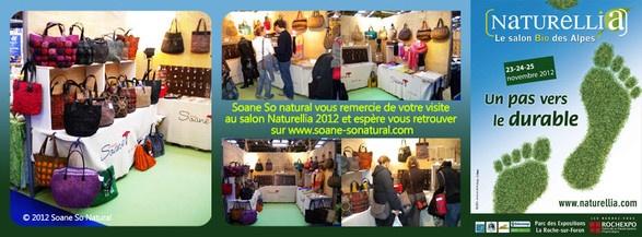 Le stand Soane So Natural au salon Naturellia