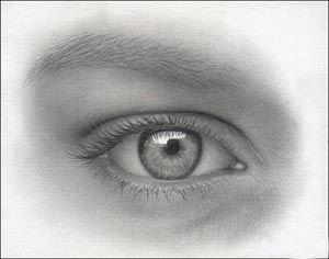 Hoe teken je een oog, stap voor stap