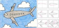 Art Projects for Kids: How to Draw an Airplane - perfect for grade 6 flight unit