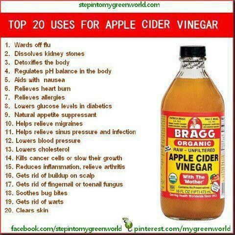 Bragg s apple cider vinegar i m going to try this once a week on my