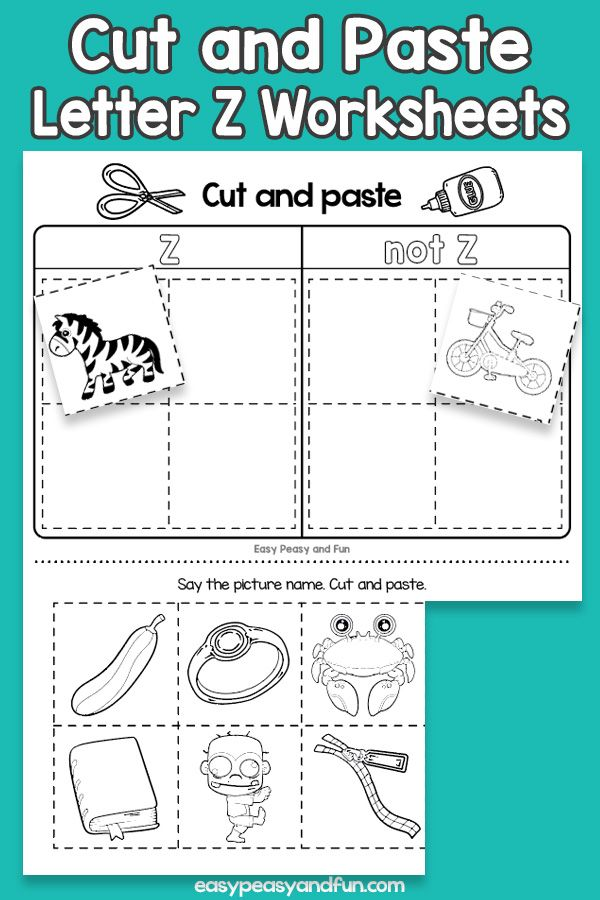 Pin On Homeschooling Worksheets Cut and paste letter worksheets for