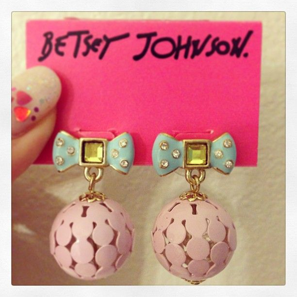 Drop earrings by Betsey Johnson Photo by hello_marisapie