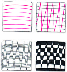 Zentangle Patterns Step by Step | Easy Zentangle Patterns Zag zentangle pattern by