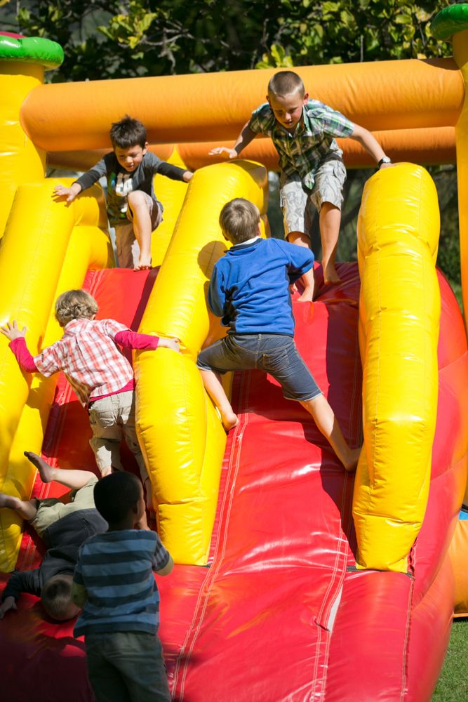 Kids on the Jumping castles