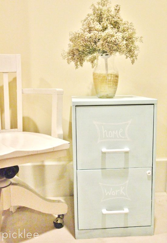 Chalk Painted Filing Cabinet [tutorial] - Picklee