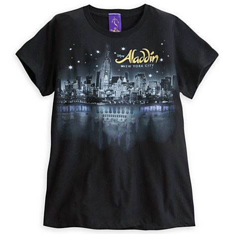 From the lost treasures of Agrabah to the bright lights of Broadway, this Aladdin the Musical souvenir tee will be your magic carpet to all the glittering excitement a night in New York City can offer.