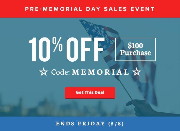 memorial day sale coupon