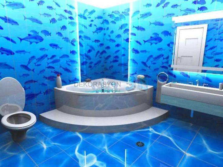 207 Best Koi Floor Images On Pinterest  Bathrooms Floor Murals Delectable 3D Bathroom Designer Inspiration Design