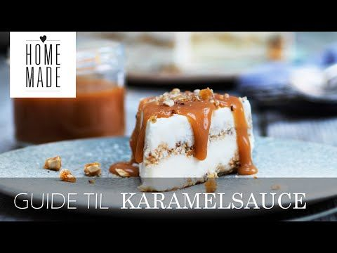Nougat-islagkage med hasselnødder og karamel | ISABELLAS