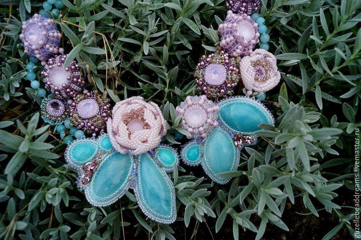 Купить Яблоневый цвет - бирюзовый, розовый, голубой, яблоня в цвету, яблоневый цвет, розы, весна