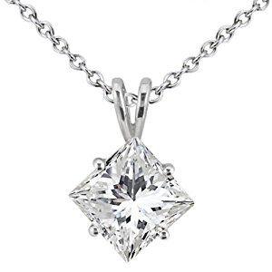 Allurez 2.00ct. Princess-Cut Diamond Solitaire Pendant in 18k White Gold (I, SI2-SI3)  http://electmejewellery.com/jewelry/necklaces/allurez-200ct-princesscut-diamond-solitaire-pendant-in-18k-white-gold-i-si2si3-couk/