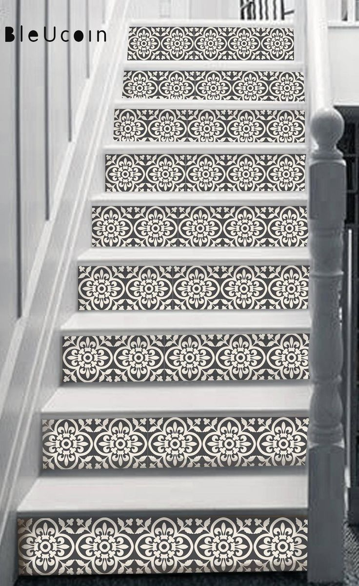 Best Encaustic Moroccan Stair Riser Vinyl Strips Removable 400 x 300
