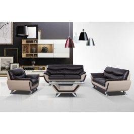 3035C   Modern Dark Brown And Grey Sofa Set   1299.0000