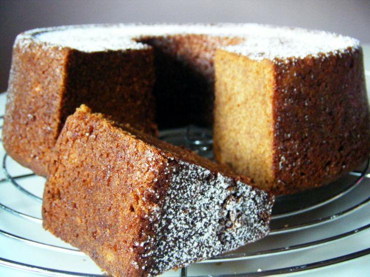 Pastel de puré de manzana-