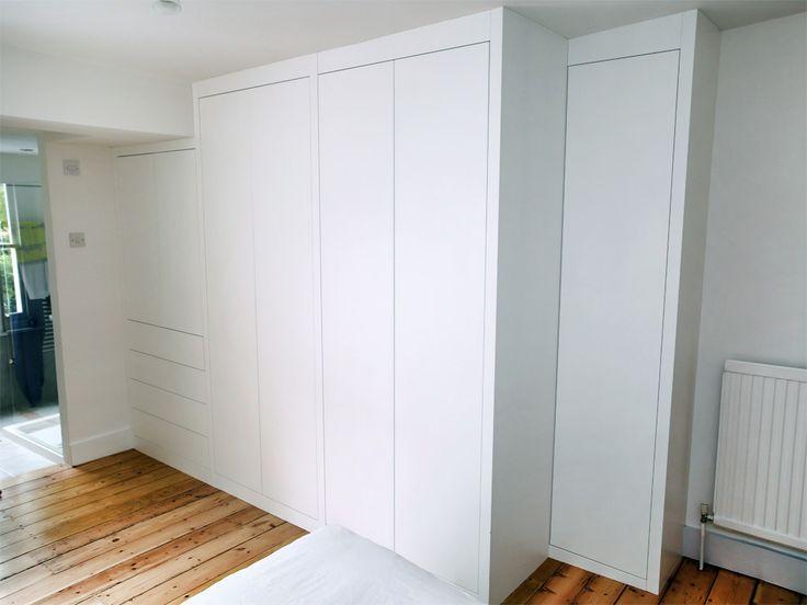 Sleek white modern fitted wardrobes - Bespoke Furniture   fitted wardrobes…