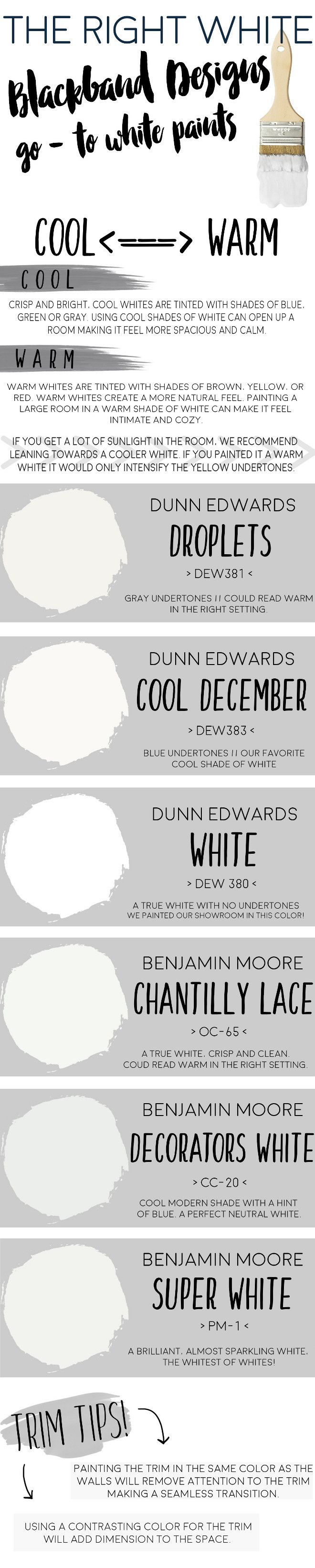 Designer Go To White Paints Cool And Warm White Paint Dunn Edwards Droplets Dew Dunn Edwards Cool December Dew Dunn Edwards White Dew Benjamin Moore
