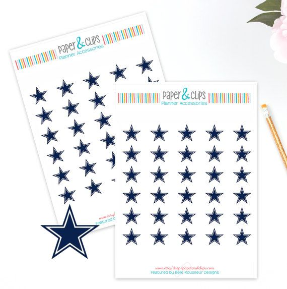 30 Dallas Cowboys Football Reminder or Planner Stickers