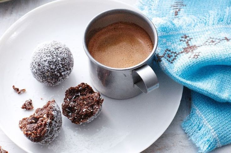 These little round bites of pureed dried fruits, nuts and seeds, are great with coffee or as a high-energy snack.