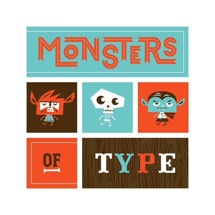fun lettering and illustrationsFun Letters, Gift Boxes, Friends, Monsters Types, Art, Illustration, Ty Wilkins, Design, Homemade Gift