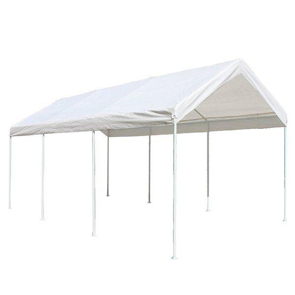 Heavy Duty 10 Ft W X 20 Ft D Canopy Carport Canopy Gazebo Carport