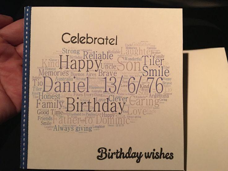 Daniels birthday card