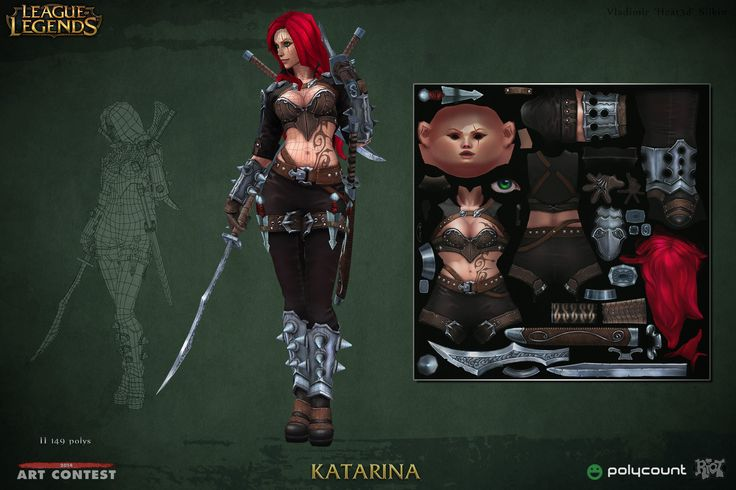 ArtStation - League of Legends - Katarina, Vladimir Silkin