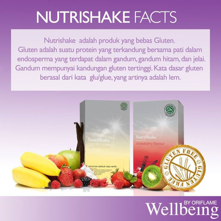 Nutrishake Facts : Tahukah kamu Oriflamers? Nutrishake dari Wellbeing Oriflame adalah produk yang bebas Gluten lho. Gluten adalah suatu protein yang terkandung bersama pati dalam endosperma yang terdapat dalam gandum, gandum hitam, dan jelai. Gandum mempunyai kandungan gluten tertinggi. .Gluten ini bisa menempel seperti lem di dalam usus kita.
