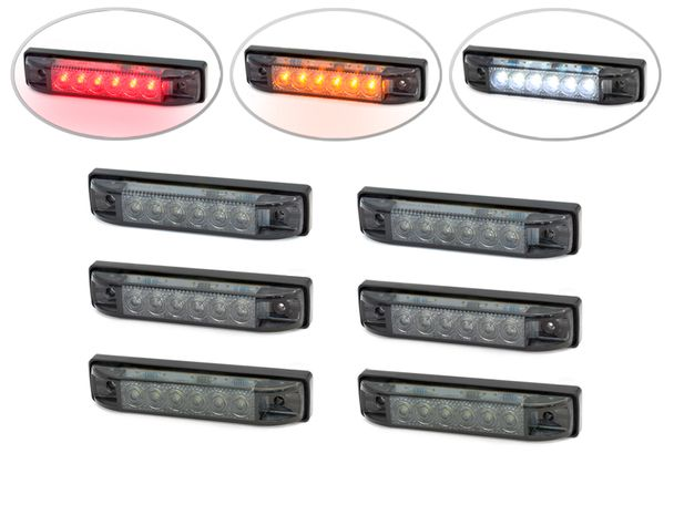 4 Flush Mount Led Stop Tail Lights Turn Signals