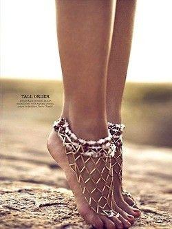 beautiful boho jewels for your feet