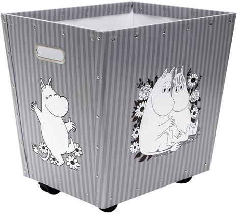 Mumin, Förvaringsbox på hjul, grå