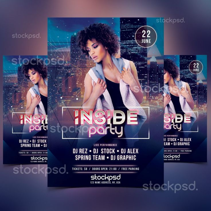 337 Best Free Psd Flyers Images On Pinterest Free Psd Flyer