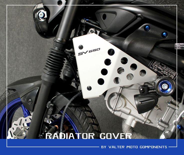 RADIATOR COVER  SUZUKI SV650 Special Bike by #valtermotocomponents #madeinitaly #followus #suzukimotor #sv650 #specialparts #preciselygrafted #preciselycraftedacademy #ergal #EICMA20169