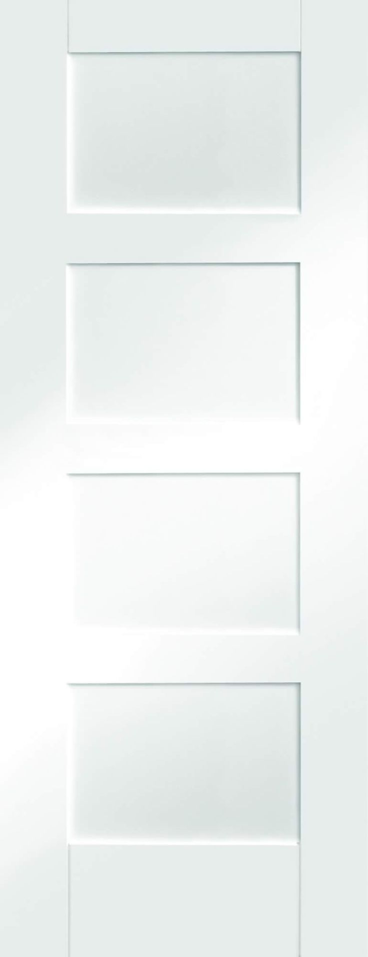 White interior doors 3 panel - Shaker 4 Panel White Pre Primed Internal Doors