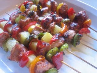 PIneapple and Pork Hawaiian Shish Kabobs