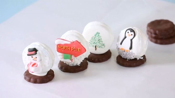 Making these clever snowglobe cookies is a great, kid-friendly activity.
