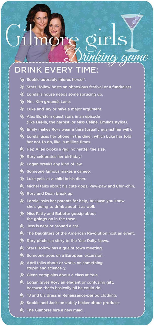 Watching an episode or two with your BFF, your mom, or your BFF who is your mom? Use this handy-dandy guide to spice up your night!