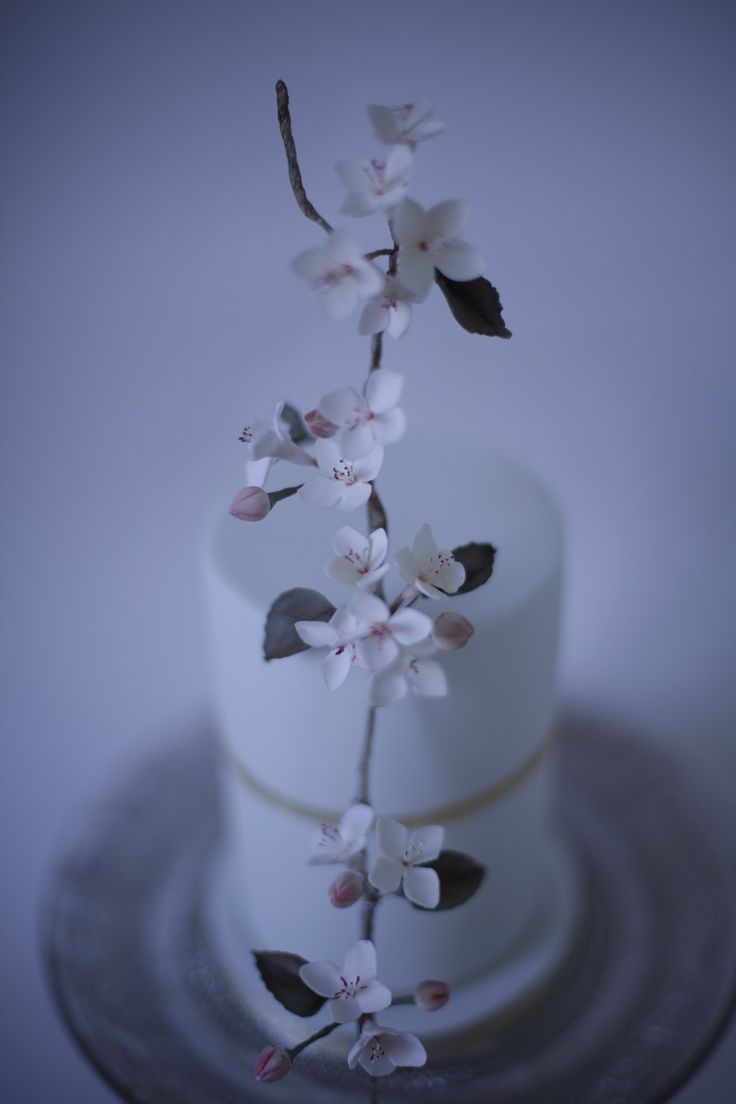 victoria made apple blossom wedding cake could also be gorgeous for a Christening