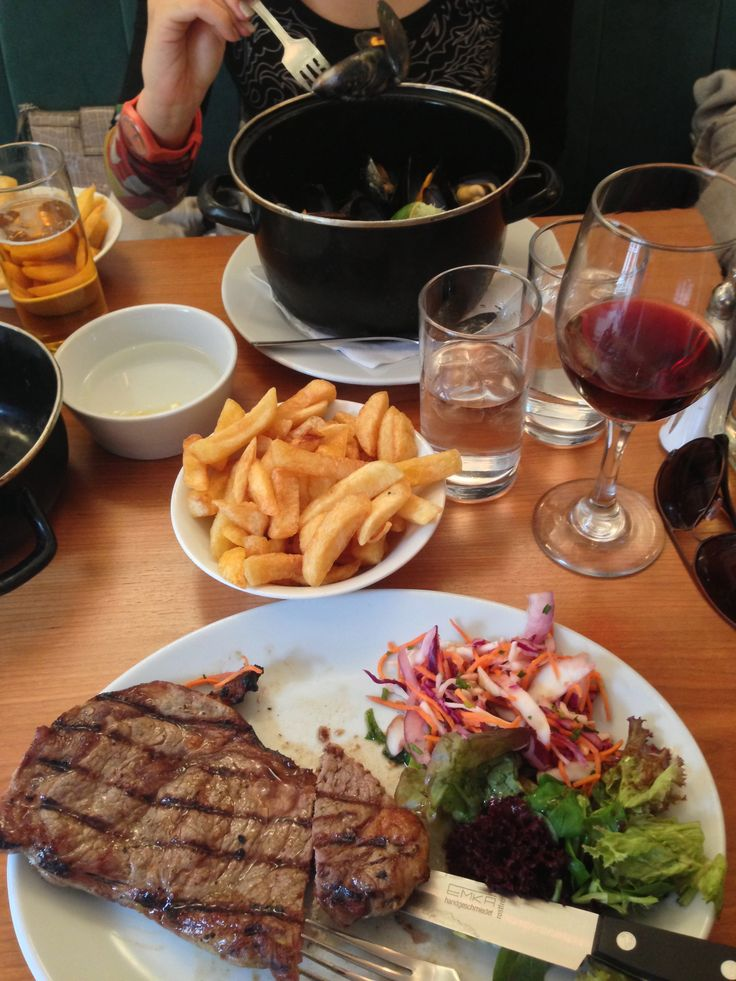 A delicious 10 oz medium done Sirloin steak and a bucket of chilli sauce mussels from our new favourite, Mussel and Steak!