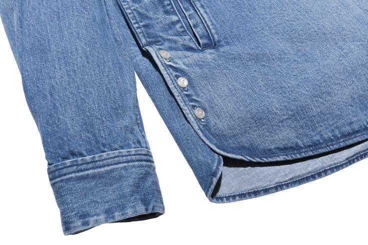 KITH x Ones Stroke Ginza Shirt - Stonewash