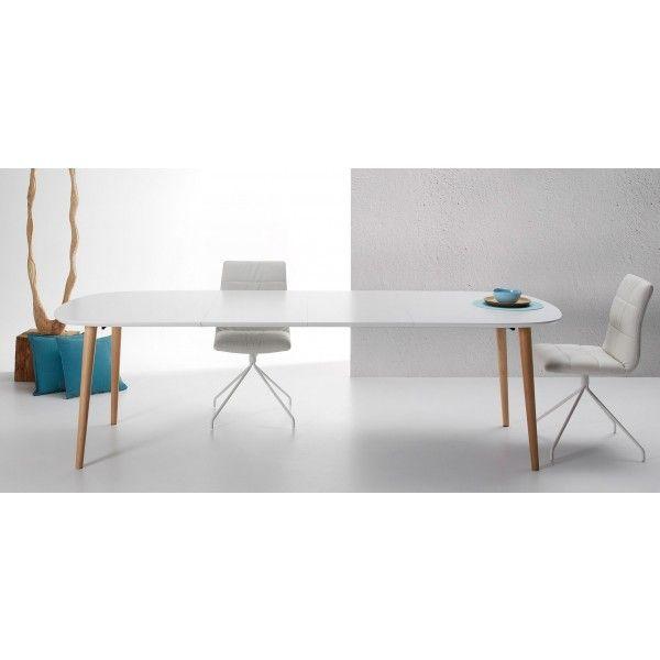 Oqui Uitschuifbare Tafel 160 - 260 cm Mat Wit - Kave - DesignOnline24