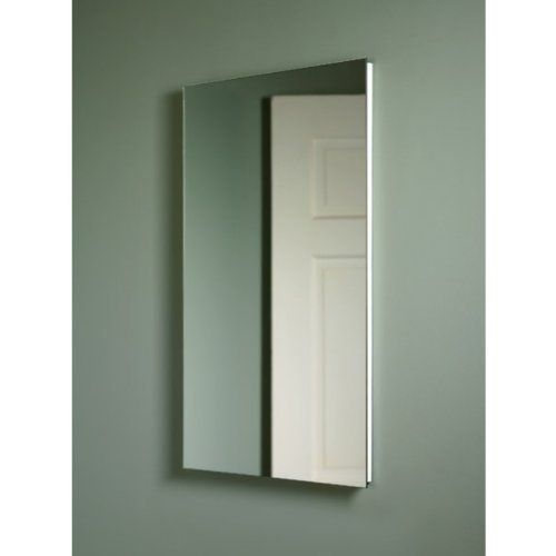 Broan-Nutone Cove 16W x 26H in. Medicine Cabinet 1035P24WHG by Broan-NuTone. $117.98. Interior mirror included. Painted steel body with 3 glass shelves. Classic white medicine cabinet. Recess mount with piano hinge. Frameless mirror with polished edge. Sleek and lean, the Broan-Nutone Cove Medicine Cabinet - 16W x 26H in. looks like a clean, shining mirror, frameless with a polished edge. The hidden piano hinge opens easily to reveal lots of recessed storage spac...