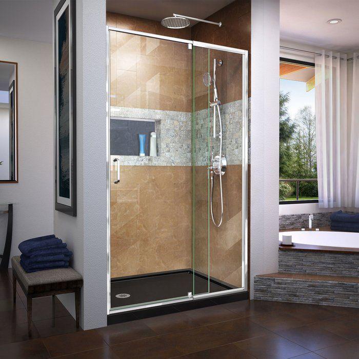 Flex 44 W X 72 H Pivot Semi Frameless Pivot Shower Door Shower Doors Chrome Shower Door Dreamline