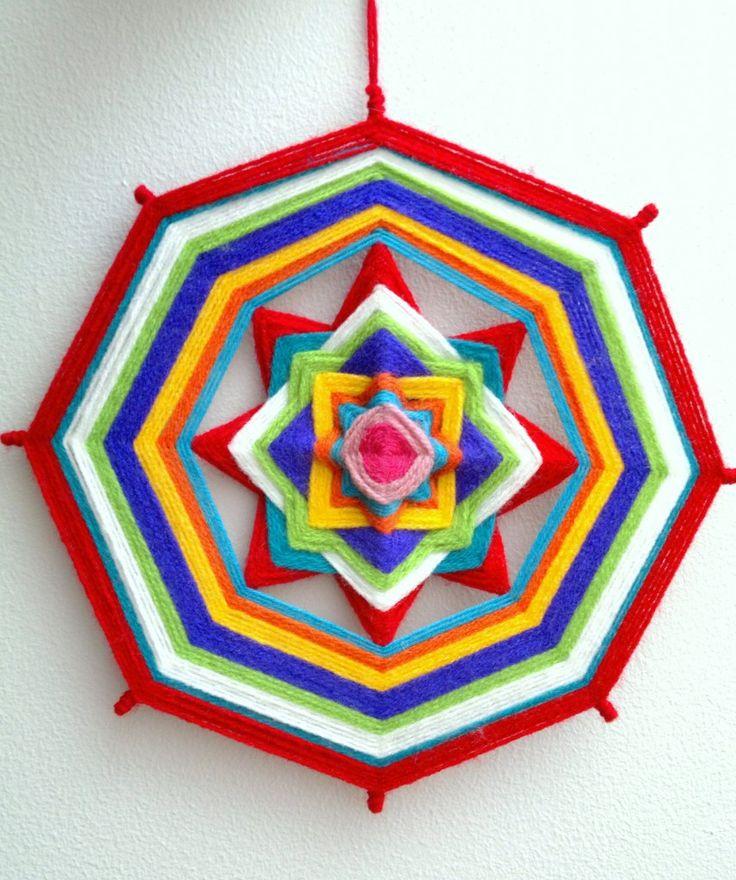 Yarn mandalas. Tutorial