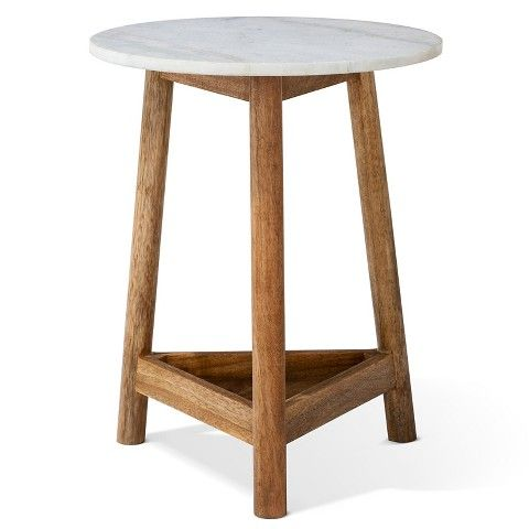 Marvelous Lanham Marble Top Side Table   Threshold™ Amazing Design