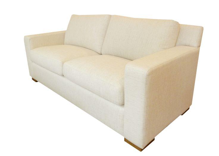 Sofá Urbano en dos cuerpos y medio(190x90cm). Tapizado en lino jaspeado.