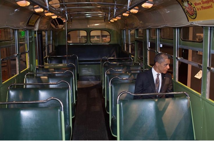 12/1/17: #Repost @petesouza (@get_repost) ・・・ President Obama on the Rosa Parks bus at the Henry Ford Museum in Dearborn, Michigan in 2012. 62 years ago today, Rosa Parks was arrested for refusing to give up her seat to a white passenger on this very bus.