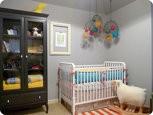 gray nursery ideas | space makes me grin from ear to ear. She started with a soft grey ...