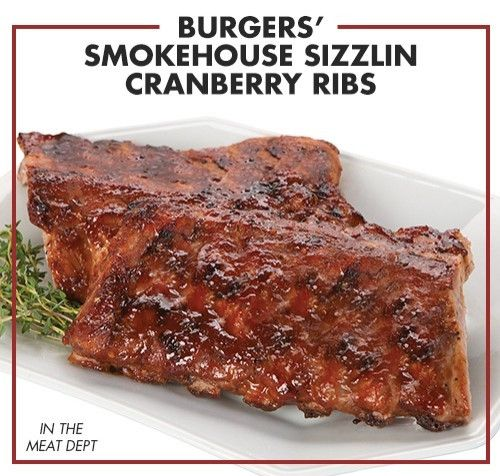 Burgers' Smokehouse Sizzlin Cranberry Ribs