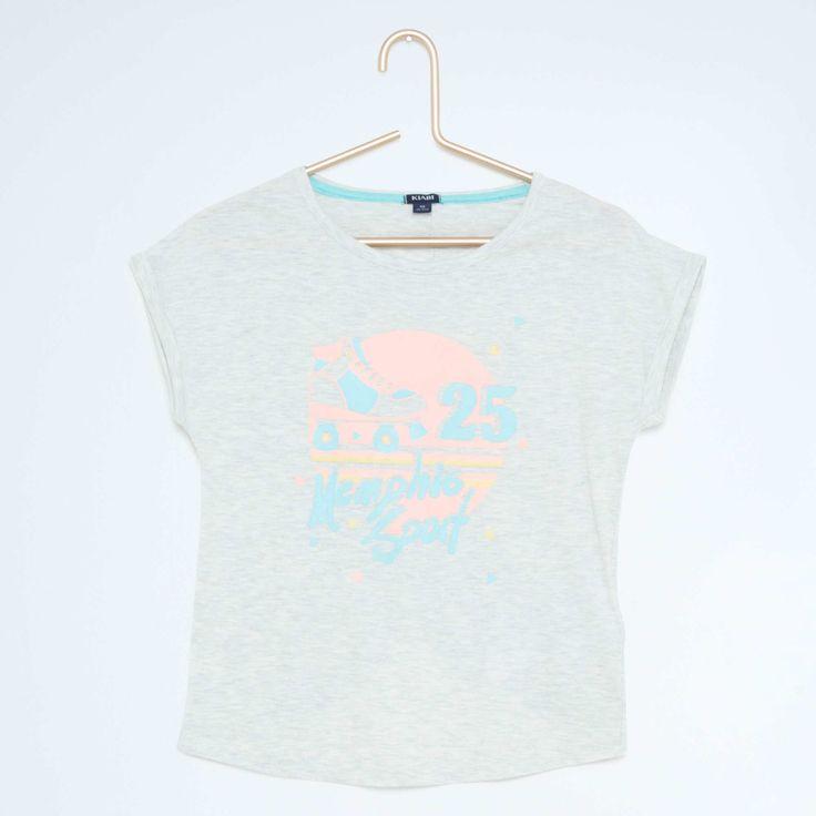 Tee-shirt ouverture dos Fille - Kiabi - 6,00€